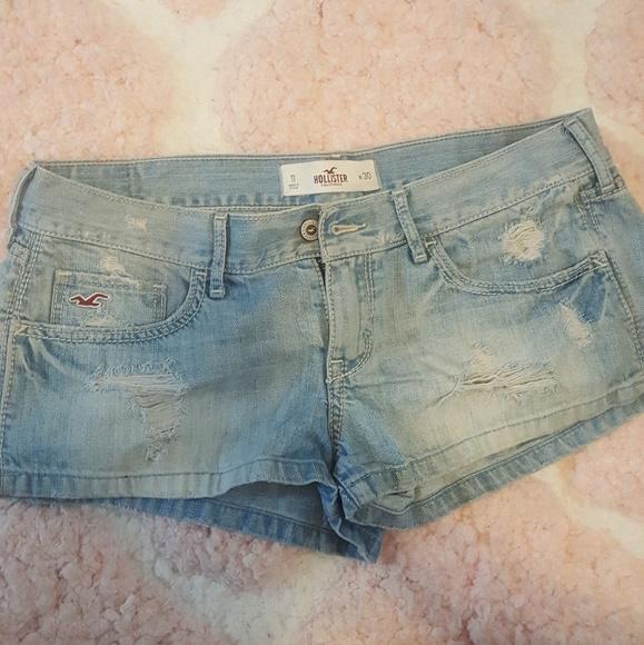 Hollister Pants - Hollister distressed jean shorts